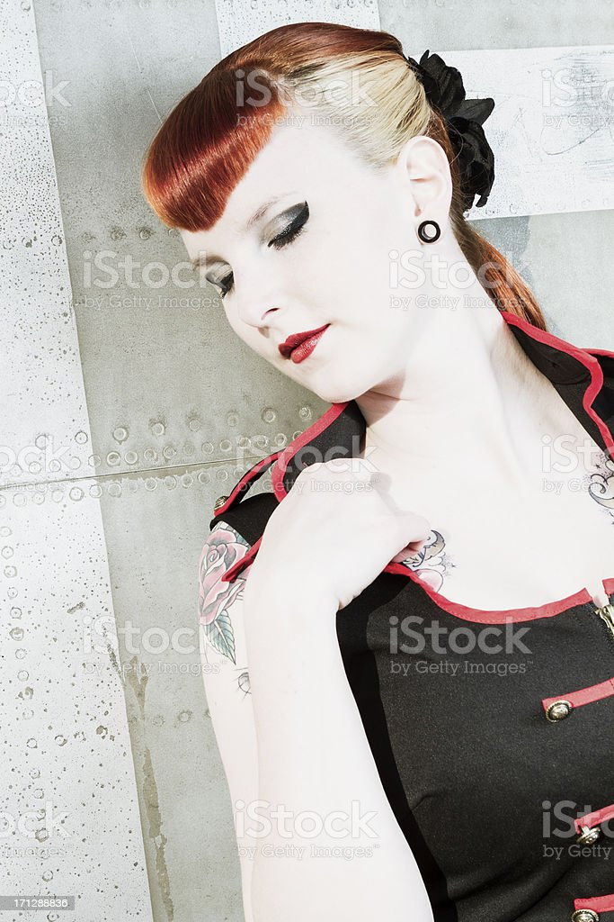 tired pin-up stock photo