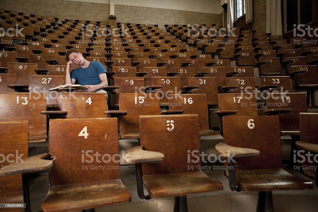 Tired University Student stock photo