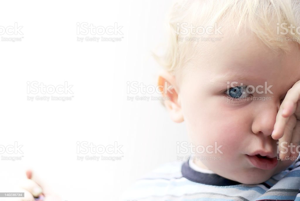 Tired young boy royalty-free stock photo