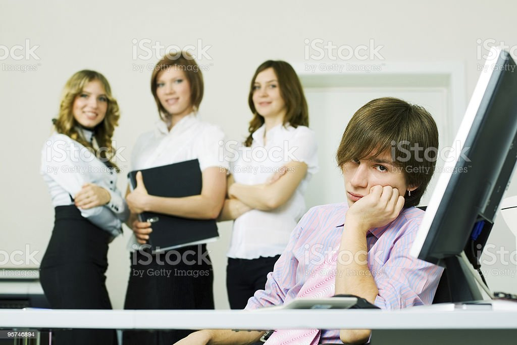 Tired young businessman royalty-free stock photo