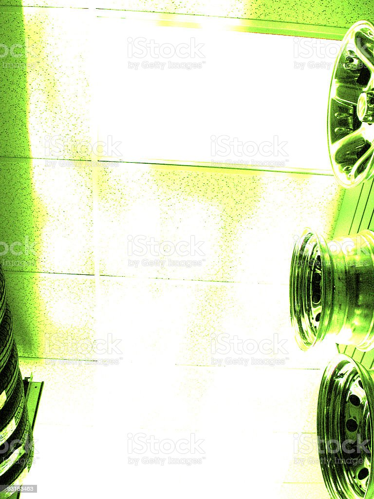 Tires and wheels royalty-free stock photo