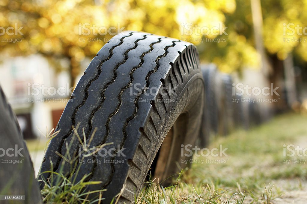 Tires in the nature royalty-free stock photo