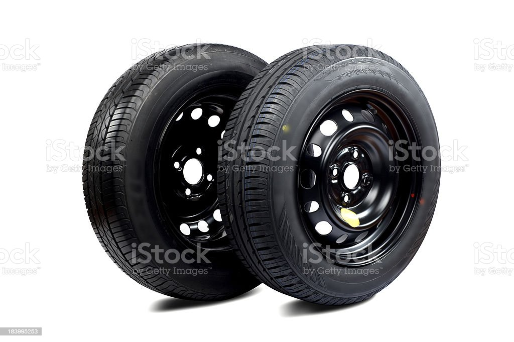 Tires on the white royalty-free stock photo