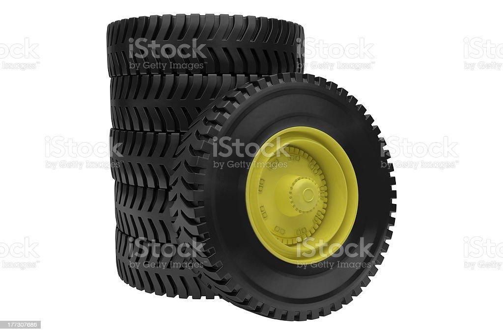 tires on white background stock photo