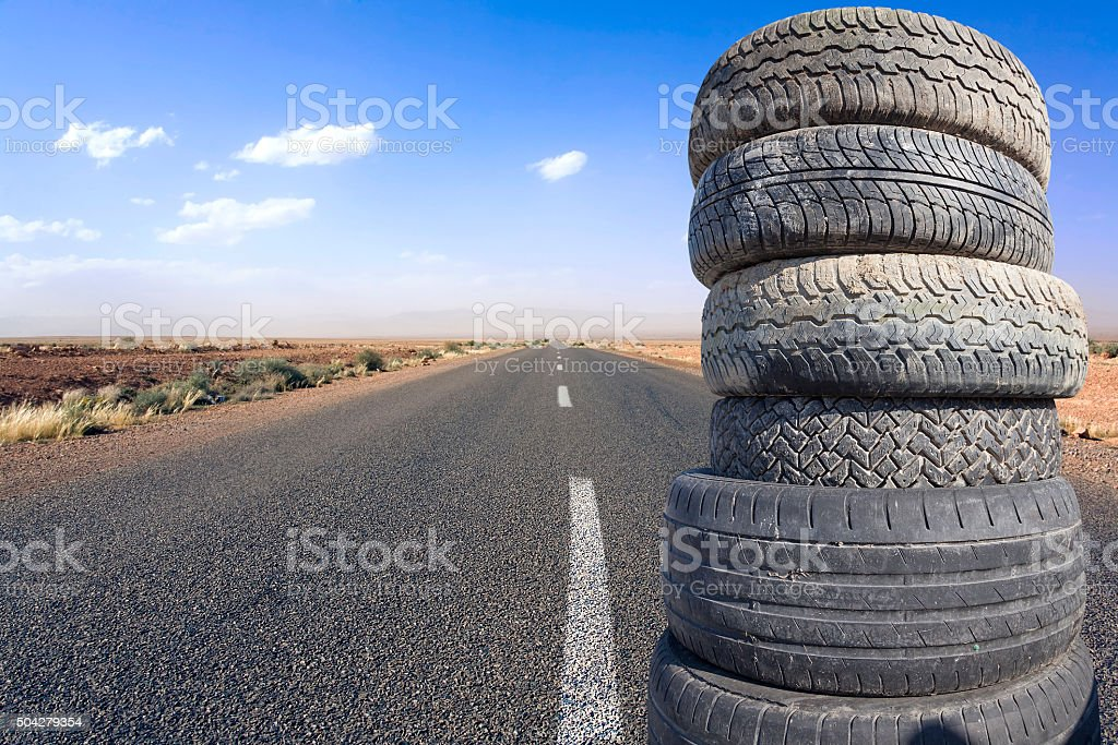 tires piled stock photo