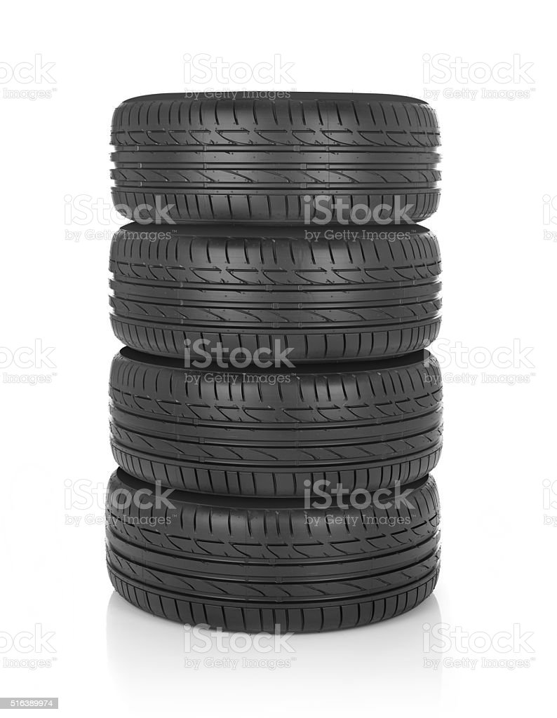 Tires stack stock photo