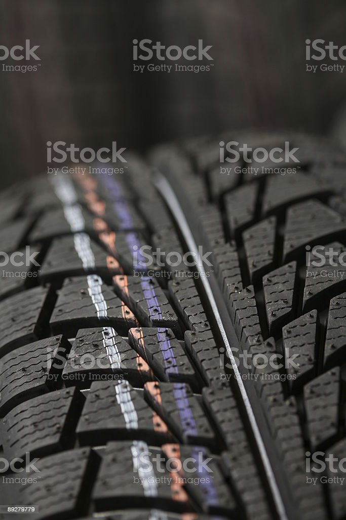 Tires trod stock photo