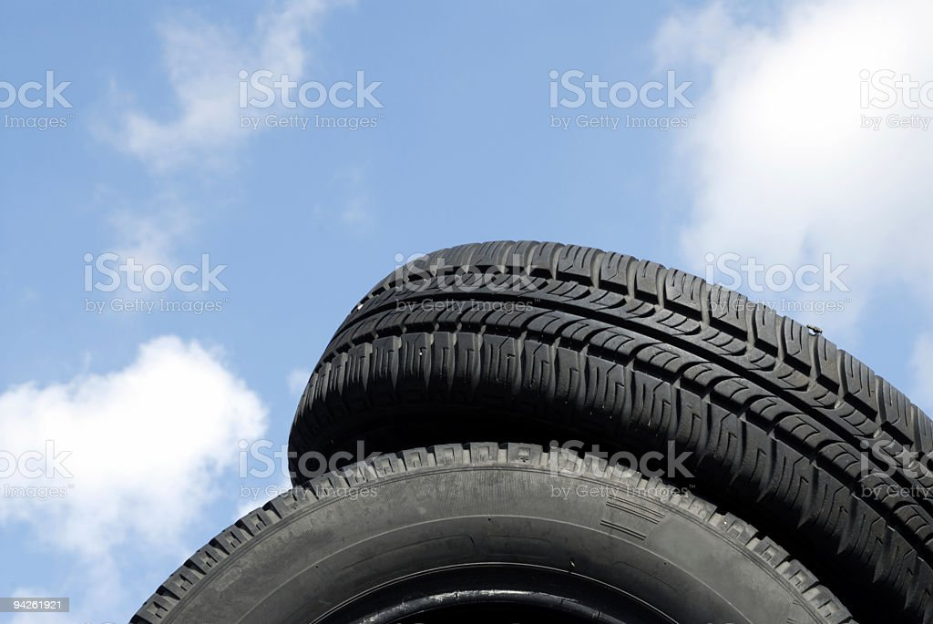 tires under blue sky royalty-free stock photo