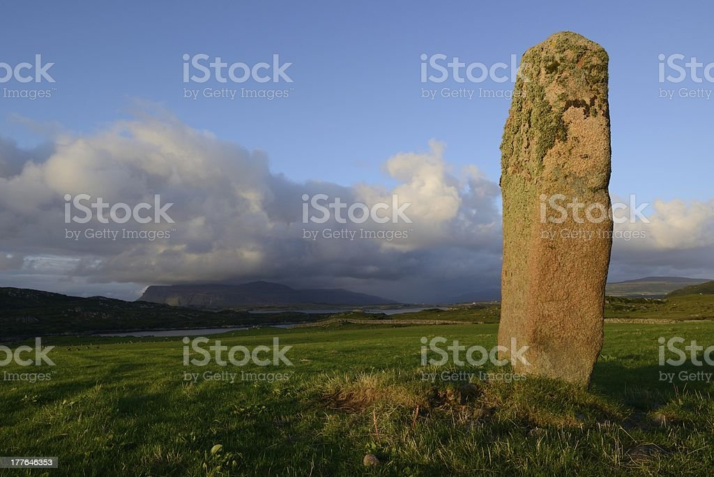 Tirghoil Standing stone royalty-free stock photo