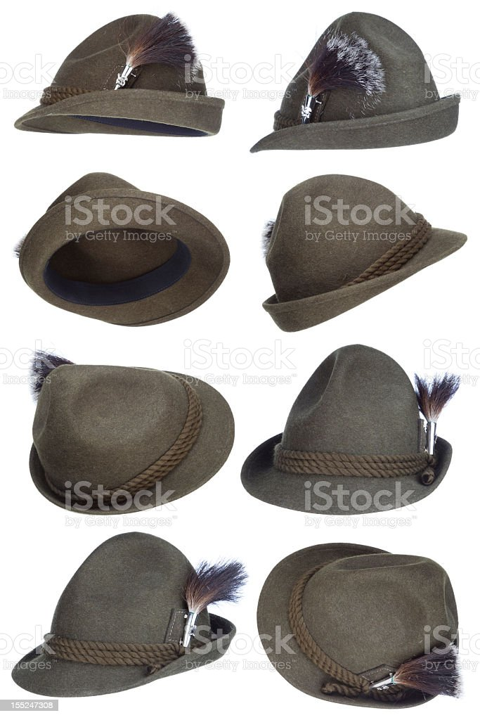 Tirol hat collection stock photo