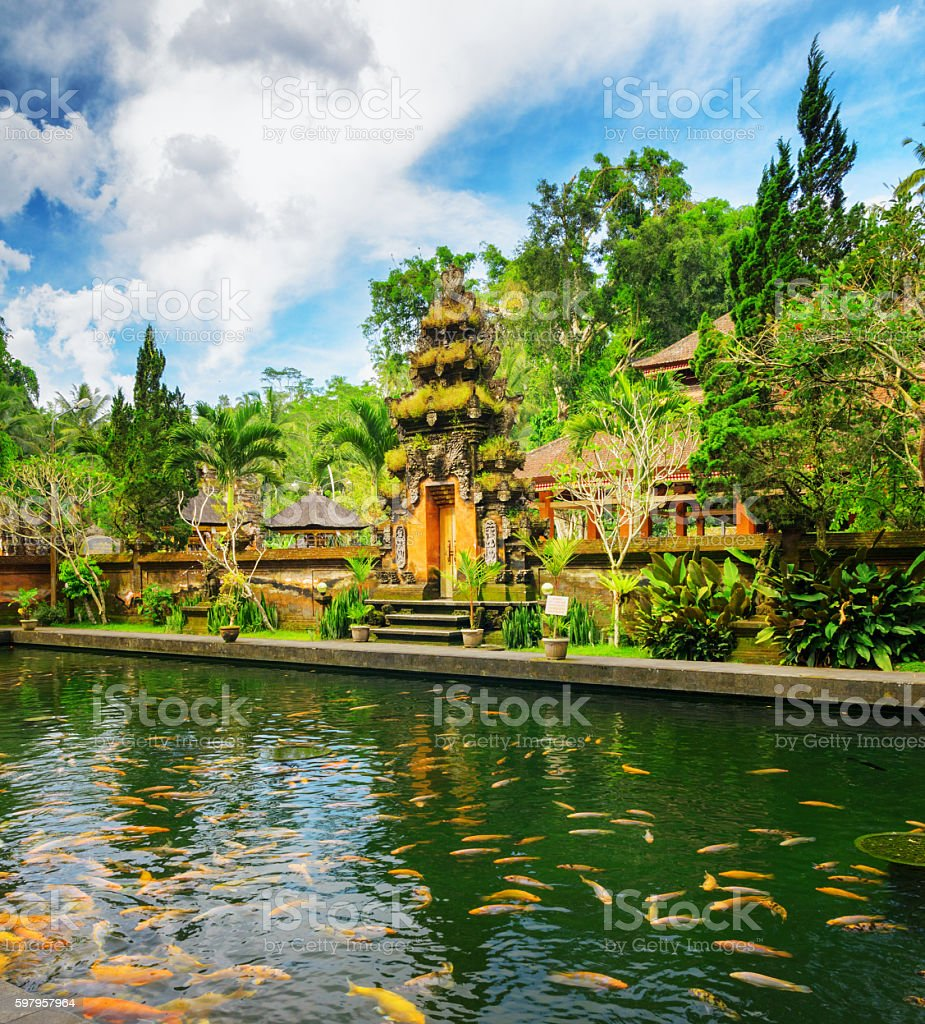 Tirta Empul Temple stock photo