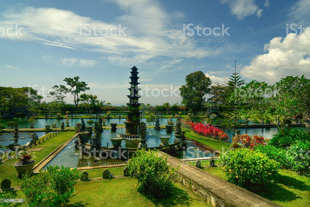 Tirta Gangga temple. View from the North stock photo