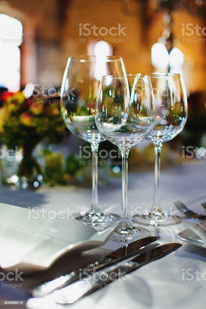 Tisch Arrangement stock photo