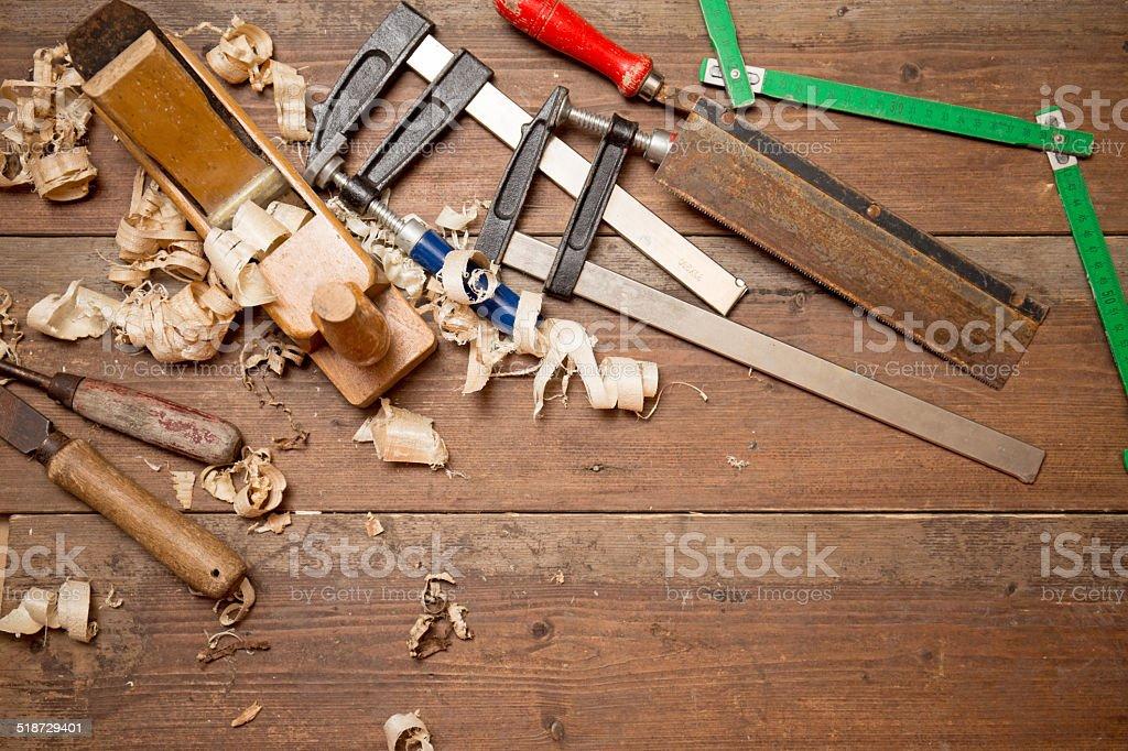 Tischlerwerkzeug stock photo
