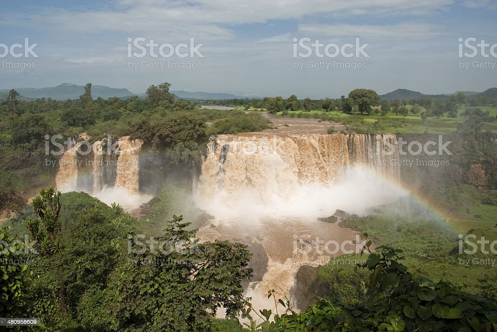 Tiss abay Falls on the Blue Nile river, Ethiopia stock photo