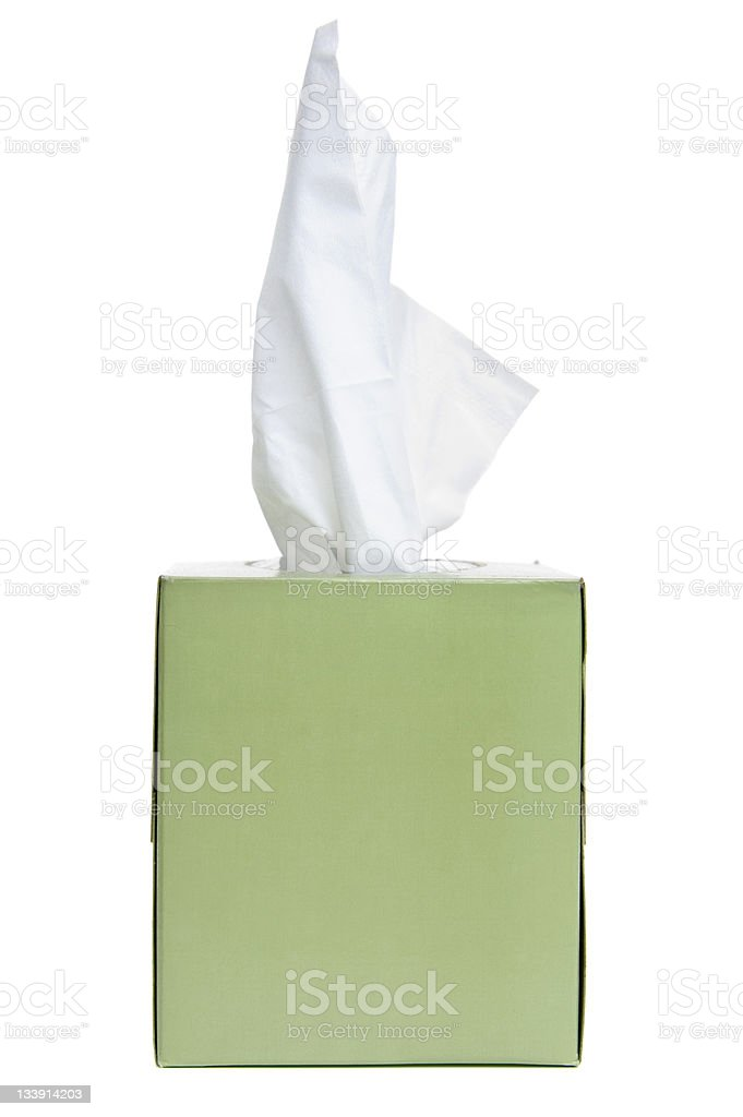 Tissue box stock photo