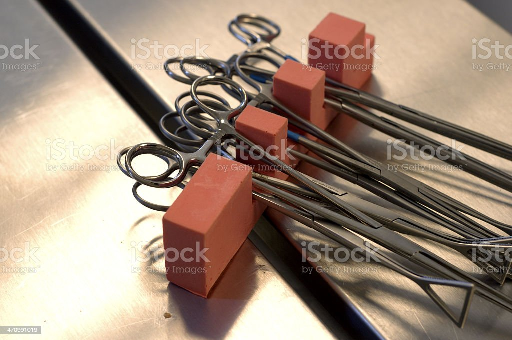 tissue holder clamps royalty-free stock photo