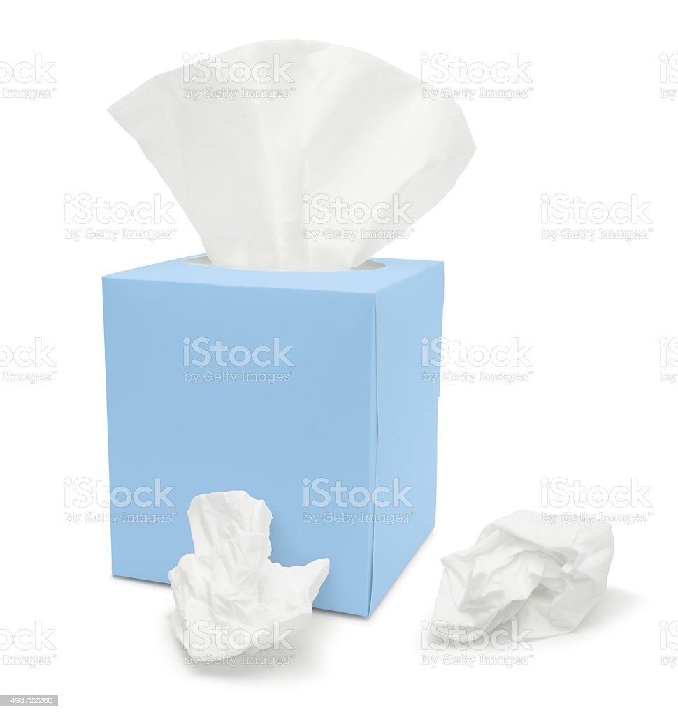 Tissue Paper Box (with path) stock photo