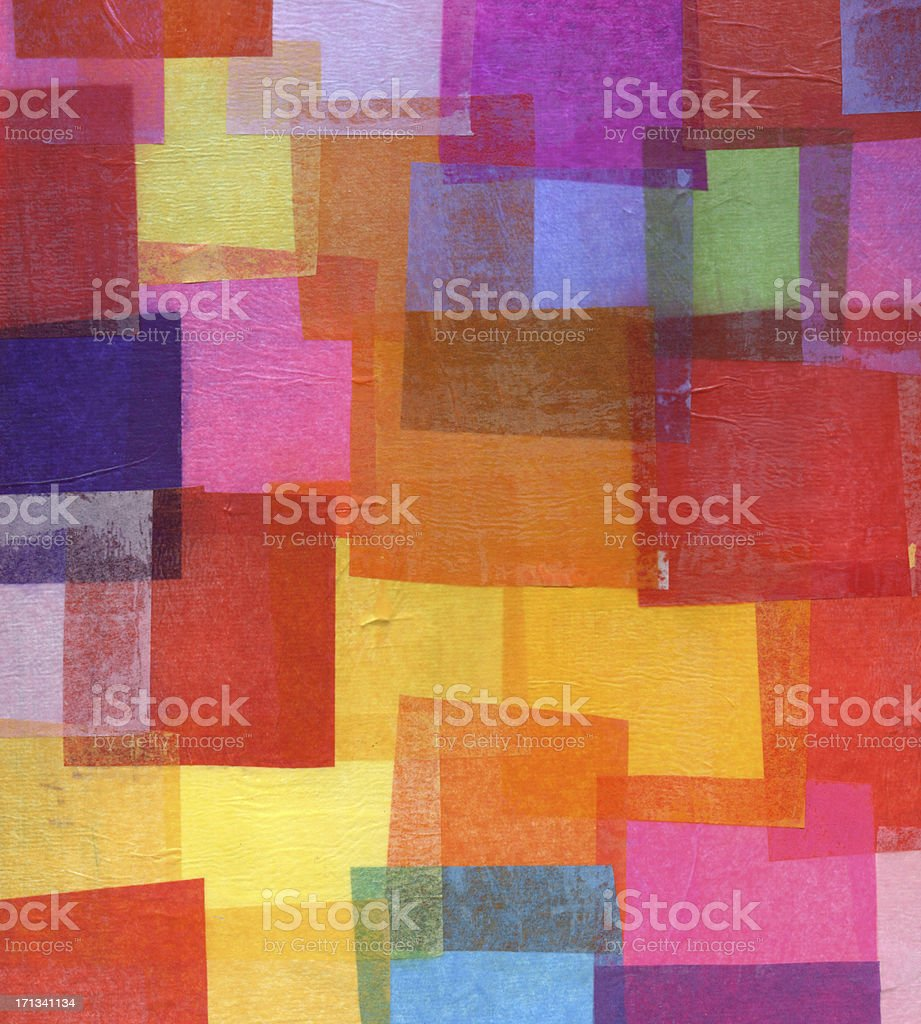 Tissue Paper Collage stock photo