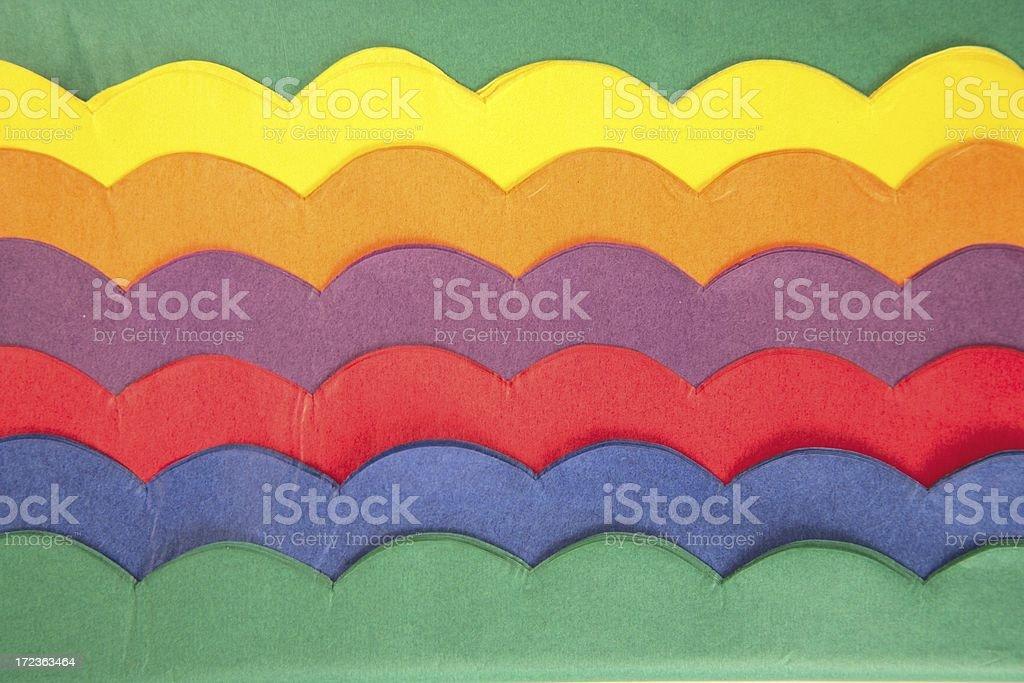 Tissue Paper Scallops stock photo