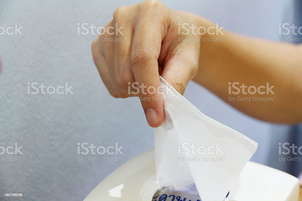 Tissue stock photo