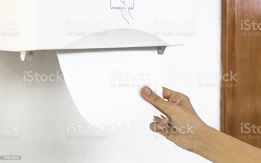Tissues paper towel stock photo