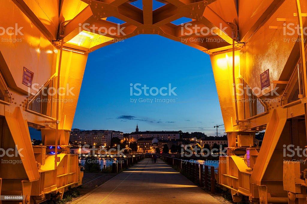 Titan Crane in Nantes stock photo