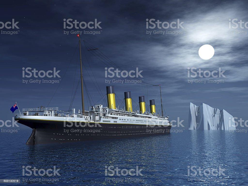 Titanic and Iceberg stock photo