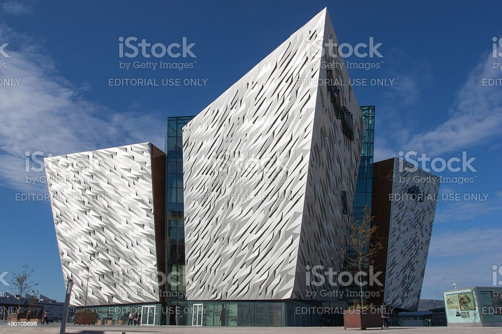 Titanic Belfast stock photo