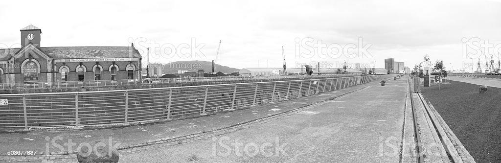 Titanic Dry Dock Belfast stock photo