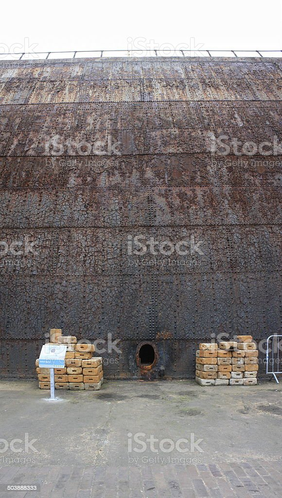 Titanic Dry Dock Door stock photo