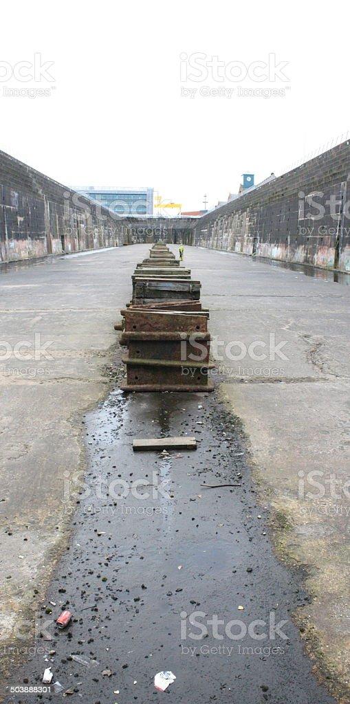 Titanic Dry Dock Floor stock photo