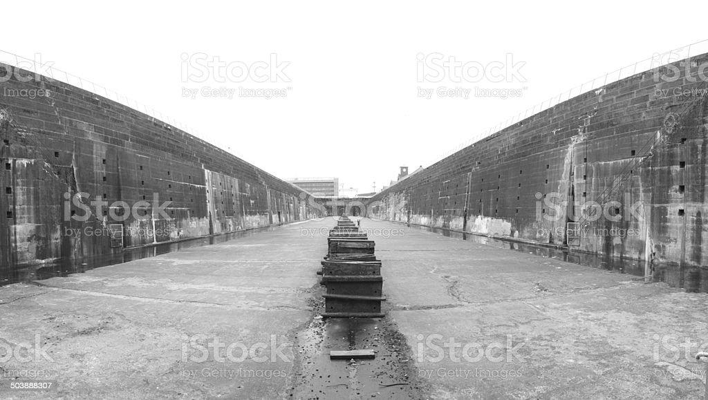 Titanic Dry Dock Panoramic stock photo