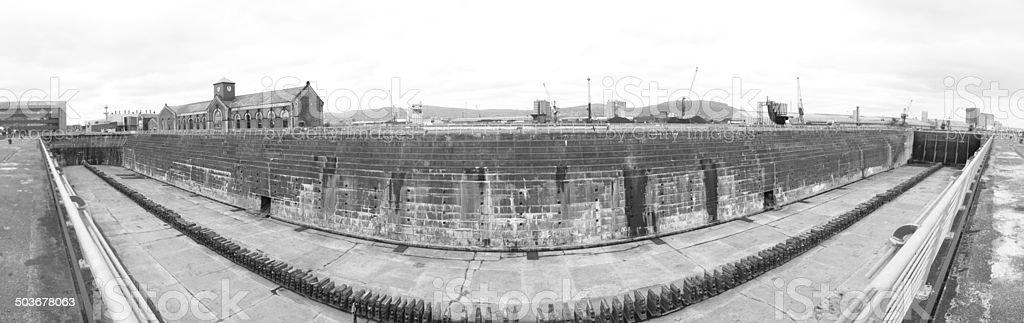 Titanic Dry Dock stock photo