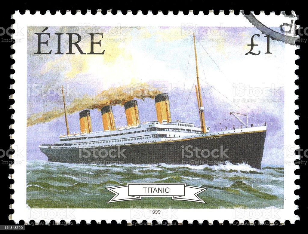 Titanic, Ireland (Eire) Postage Stamp royalty-free stock photo