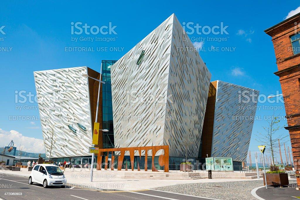 Titanic Museum in Belfast stock photo
