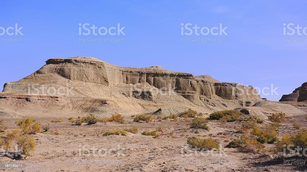 'Titanic' of the wind erosion landform royalty-free stock photo
