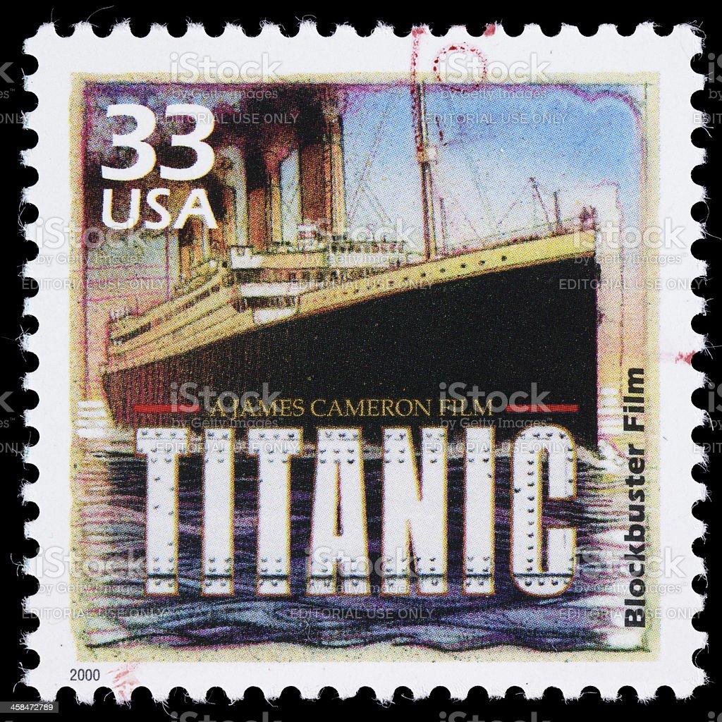 USA Titanic postage stamp stock photo