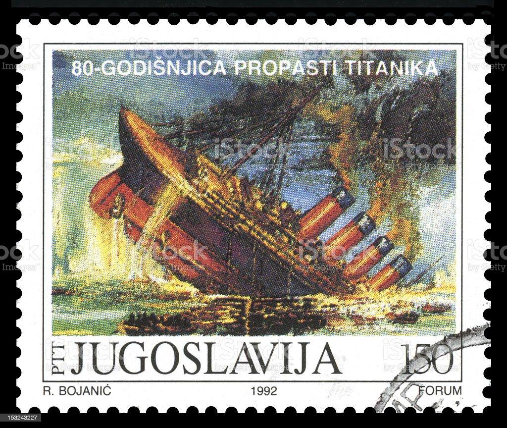 Titanic, Yugoslavia Postage Stamp royalty-free stock photo