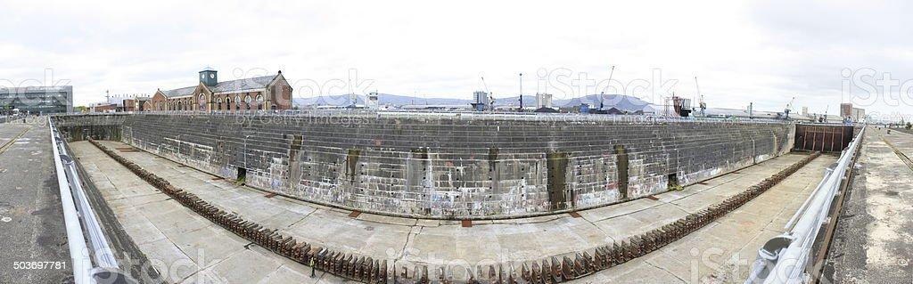 Titanic's Dry Dock Belfast Northern Ireland stock photo