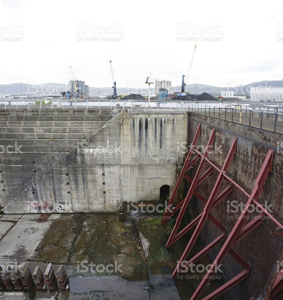 Titanic's Dry Dock Belfast stock photo