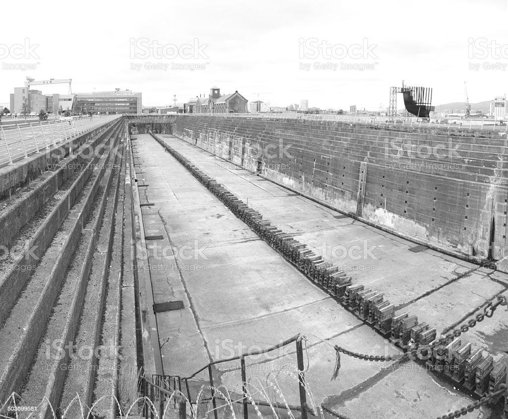 Titanic's Dry Dock Belfast stock photo