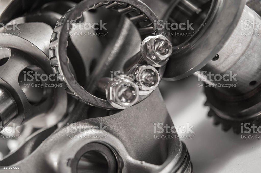 Titanium bolts stock photo
