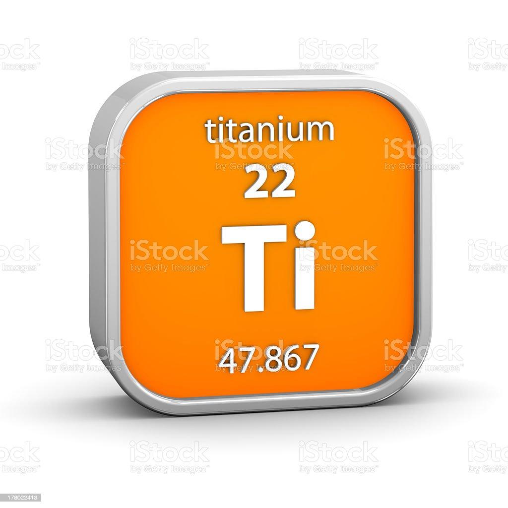 Titanium material sign royalty-free stock photo