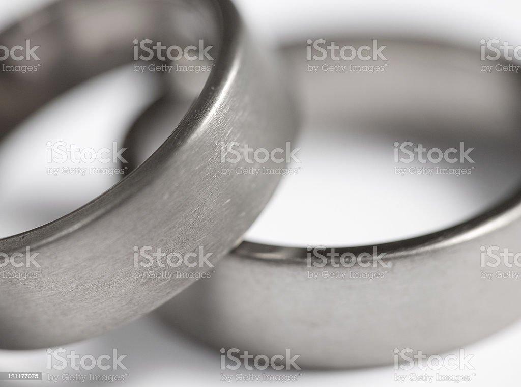 Titanium rings stock photo