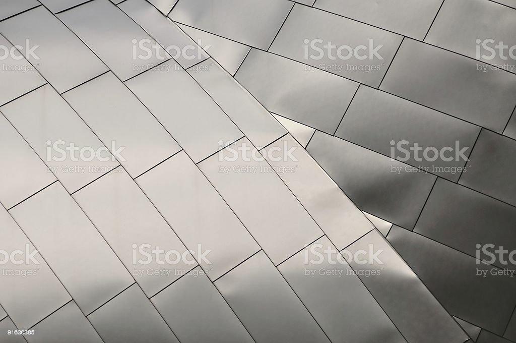 Titanium Roof stock photo