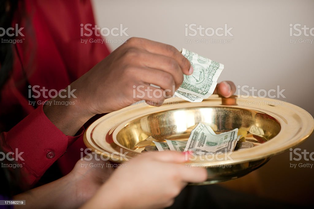 Tithe and Offering stock photo