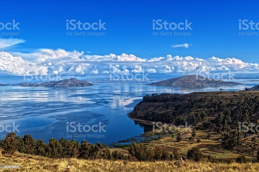 Titicaca lake Bolivia stock photo