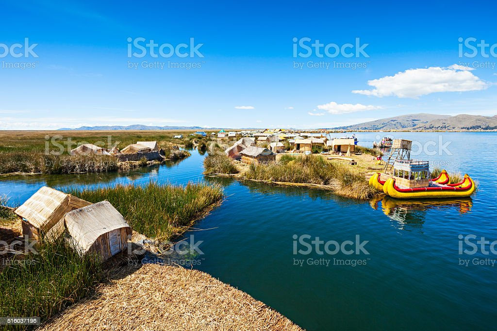 Titicaca Lake stock photo