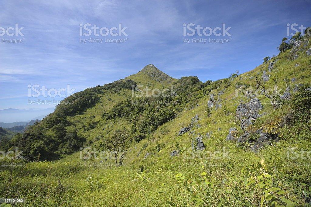 Title : Doi Luang Chiang Dao mountain range royalty-free stock photo